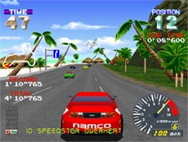 In game image of Ridge Racer Revolution on the Sony Playstation.