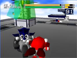 In game image of Robo Pit on the Sony Playstation.