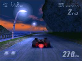 In game image of Rollcage on the Sony Playstation.