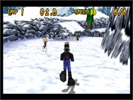 In game image of Running Wild on the Sony Playstation.