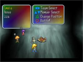 In game image of Saga Frontier on the Sony Playstation.