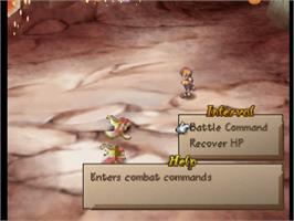 In game image of Saga Frontier 2 on the Sony Playstation.