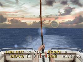 In game image of Saltwater Sportfishing on the Sony Playstation.
