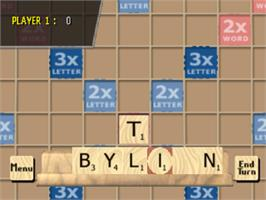 In game image of Scrabble on the Sony Playstation.