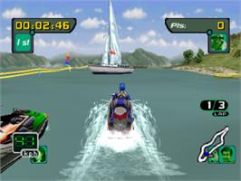 In game image of Sea-Doo Hydrocross on the Sony Playstation.