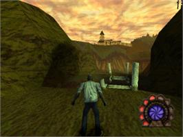 In game image of Shadow Man on the Sony Playstation.