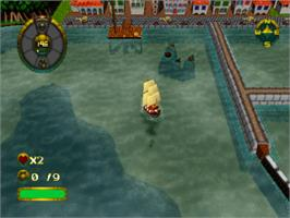 In game image of Shipwreckers! on the Sony Playstation.