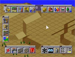 In game image of SimCity 2000 on the Sony Playstation.