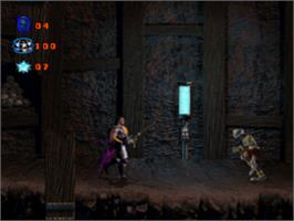 In game image of Skeleton Warriors on the Sony Playstation.