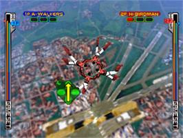 In game image of Skydiving Extreme on the Sony Playstation.
