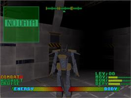 In game image of Space Griffon VF-9 on the Sony Playstation.