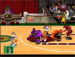 In game image of Space Jam on the Sony Playstation.