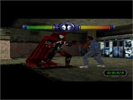 In game image of Spawn: The Eternal on the Sony Playstation.