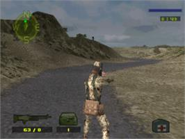 In game image of Spec Ops: Covert Assault on the Sony Playstation.