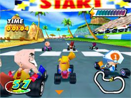 In game image of Speed Punks on the Sony Playstation.