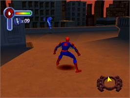 In game image of Spider-Man 2: Enter Electro on the Sony Playstation.