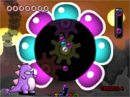 In game image of Spin Jam on the Sony Playstation.