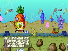 In game image of SpongeBob SquarePants: SuperSponge on the Sony Playstation.