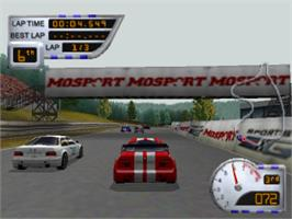 In game image of Sports Car GT on the Sony Playstation.