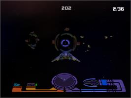 In game image of Star Trek: Invasion on the Sony Playstation.