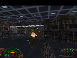 In game image of Star Wars: Dark Forces on the Sony Playstation.