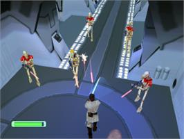 In game image of Star Wars: Episode I - The Phantom Menace on the Sony Playstation.