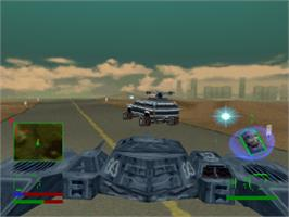 In game image of Steel Reign on the Sony Playstation.