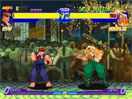 In game image of Street Fighter Alpha: Warriors' Dreams on the Sony Playstation.