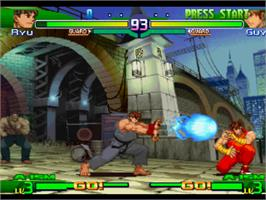 In game image of Street Fighter Alpha 3 on the Sony Playstation.