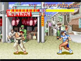 In game image of Street Fighter Collection 2 on the Sony Playstation.