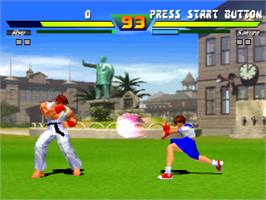 In game image of Street Fighter EX Plus Alpha on the Sony Playstation.