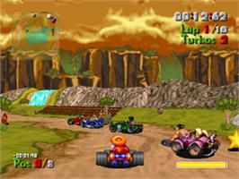 In game image of Street Racer on the Sony Playstation.