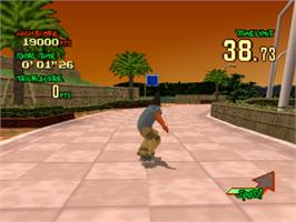 In game image of Street Sk8er on the Sony Playstation.