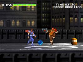 In game image of Strider 2 on the Sony Playstation.