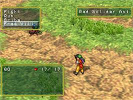 In game image of Suikoden on the Sony Playstation.