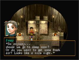 In game image of Suikoden II on the Sony Playstation.
