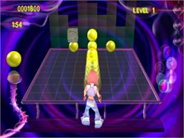 In game image of Super Bubble Pop on the Sony Playstation.