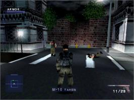 In game image of Syphon Filter on the Sony Playstation.