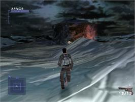 In game image of Syphon Filter 2 on the Sony Playstation.