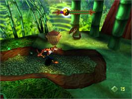 In game image of T'ai Fu: Wrath of the Tiger on the Sony Playstation.