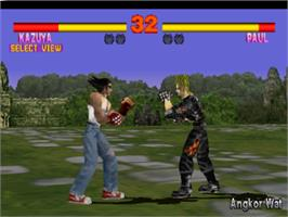 In game image of Tekken on the Sony Playstation.