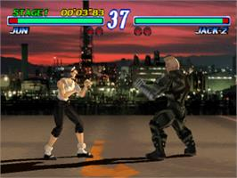 In game image of Tekken 2 on the Sony Playstation.