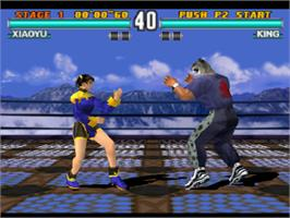 In game image of Tekken 3 on the Sony Playstation.