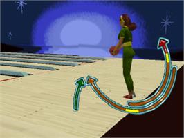 In game image of Ten Pin Alley on the Sony Playstation.