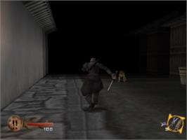 In game image of Tenchu: Stealth Assassins on the Sony Playstation.