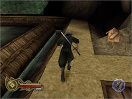 In game image of Tenchu 2: Birth of the Stealth Assassins on the Sony Playstation.
