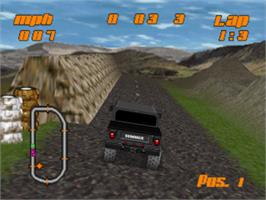 In game image of Test Drive: Off-Road on the Sony Playstation.