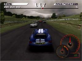In game image of Test Drive 4 on the Sony Playstation.