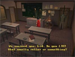 In game image of The City of Lost Children on the Sony Playstation.