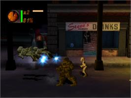 In game image of The Fantastic Four on the Sony Playstation.